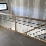 Vue d'un escalier bois DF Construction